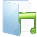 music,blue icon