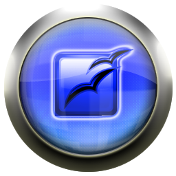 office, open, blue icon