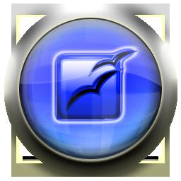 office, open, blue icon