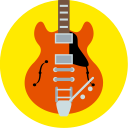 guitar, music, gibson, back to the future, instrument icon