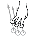 three, swipe, gestureworks, finger icon