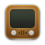 brown, retro, old, wood, youtube, tv, video, television icon