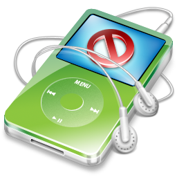 disconnect, no, stop, cancel, close, green, video, ipod icon