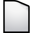 document, blank, file icon