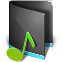 Alta, Black, Folder, Music icon