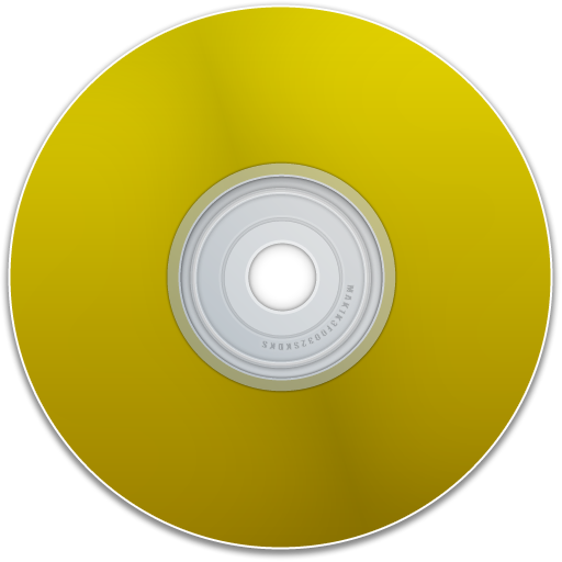 dvd, yellow, empty, disc, blank, disk, save, cd icon