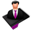 My, Profile, Purple icon