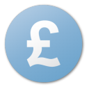Blue, Currency, Pound icon