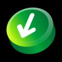 down, alternate, download, decrease, fall, descend, descending icon