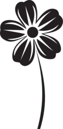 Flower of five petals icon