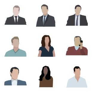 Business persons flat icon sets preview