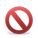 forbidden, banned icon