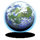 globe, earth, planet, world, aqua icon