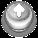 Button Grey Arrow Up icon