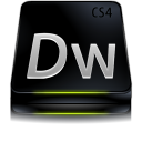 cs, dreamweaver, black, adobe icon