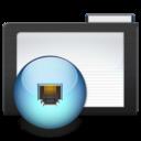 dark,folder,network icon