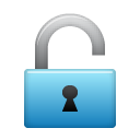 unlock, lock icon