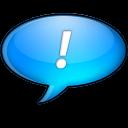 Chat bleu icon