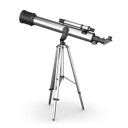 telescope, for looking at planets and stars icon