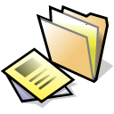file, paper, folder, document icon