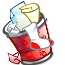 trashcan, full icon