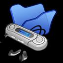 Blue, Folder, Mymusic icon