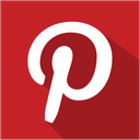 social, media, set, shadow, pinterest icon