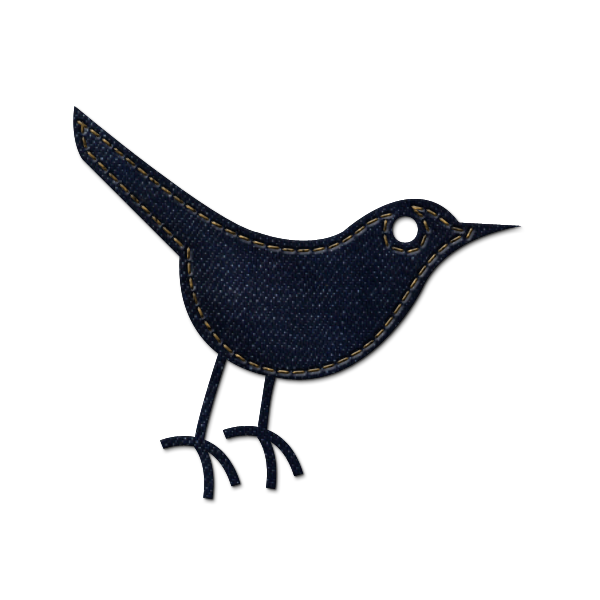 denim, social, animal, social network, twitter, jean, sn, bird icon