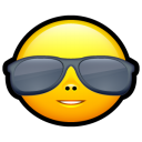 Smiley cool icon