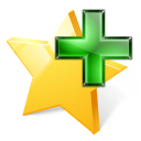add, star, bookmark icon