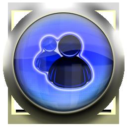 messenger, blue icon