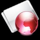 Folder Online strawberry icon