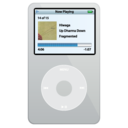 ipod,video,silver icon