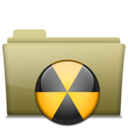 Folder Burn Brown icon