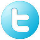 button, round, twitter, social, blue icon
