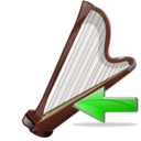 arpa,back,instrument icon