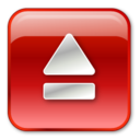 eject,normal,red icon
