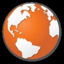 globe, earth, world, planet, red, orange, internet icon