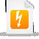 document, orange, file, paper icon