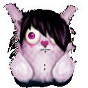 pink, animal, emo, rabbit icon
