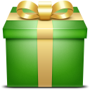 giftbox, present, gift, box, green icon