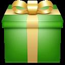 giftbox, present, gift, box, green icon