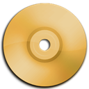 Cd, Dvd, Orange icon