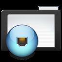 Dark, Folder, Network icon