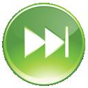green, forward, fast icon
