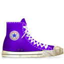 light, lila, converse, energy, tip, dirty, hint icon