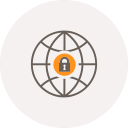 security, locker, globe, safe, world, internet, locked icon