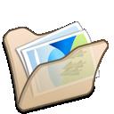 Beige, Folder, Mypictures icon