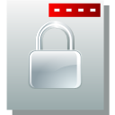 document, lock, file, paper, locked, security icon