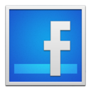 facebook,whiteframe icon